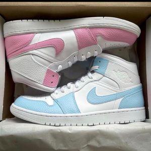 Nike Custom Air Jordan 1 Cotton Candy Split